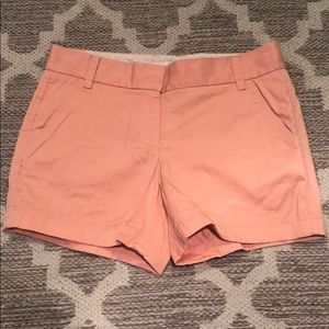 J. Crew sz 6 peach colored broken in chino shorts